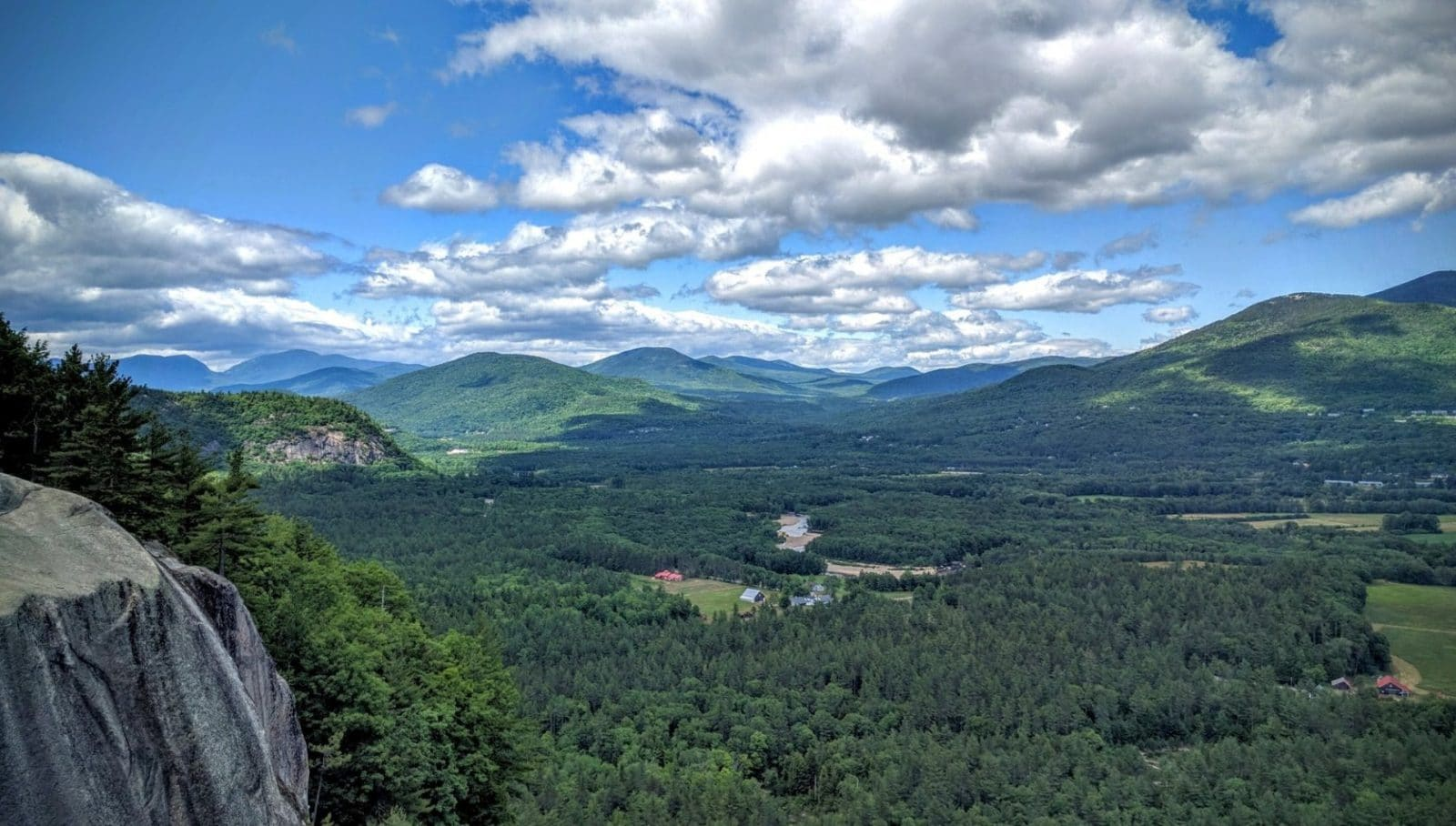 Join a Run With Her Retreat and enjoy this view of North Conway, New Hampshire.